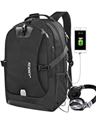 Travel Laptop Backpack Anti-theft Outdoor Water-Resistant School Backpack with USB Charging Port Business Traveling...