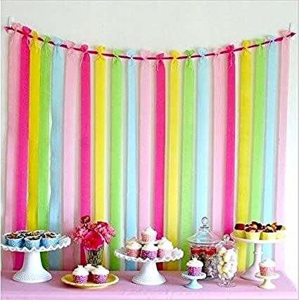 My Party Suppliers Crepe Paper Decorative Ribbon Streamer Fluorescent Amazonin Home Kitchen