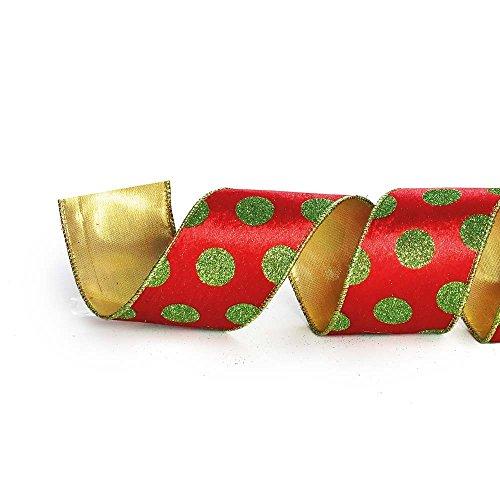 Fita De Natal Poá 6,3Cm C/ 9,14M Vermelha