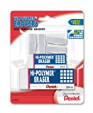 Pentel Hi-Polymer Eraser Mixed Pack 4 Cap