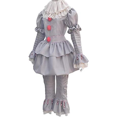 wnddm Disfraz de Payasos Disfraz de Halloween de Miedo para ...