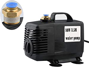 220V Engraving Machine Accessories Cooling Water Pump For CNC Spindle Motor 3.5M 80W 3500L/H Circulation Pump