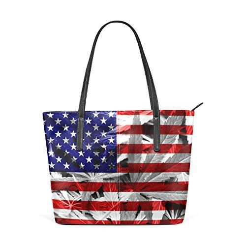 sacs les fourre main pour et femmes bandoulière main multicolore sac tout à Moyen à Drapeau en Sac cuir COOSUN USA PU sac à zAqxHawa