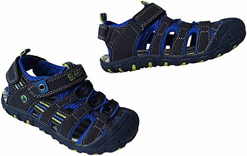 Jungen Kinder Trekking Sandale Schuhe Outdoorsandale Sandalette Gr.25 - 36 Art.-Nr.5596 navy