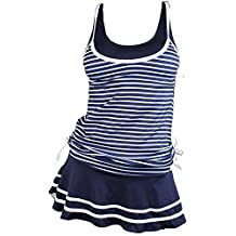 MiYang Women's Tankini Striped Vintage Swim Dress