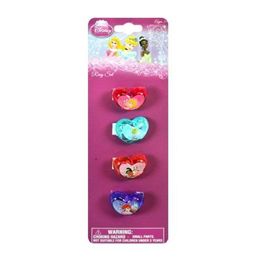 Amazon.com: 4pk Disney Princess Plastic Rings: Toys & Games
