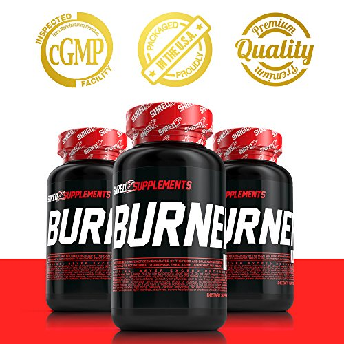 SHREDZ Burner for Men, 60 Capsules, 30 Day Supply - Lose Weight, Increase Energy, Best Way to Shed Pounds!