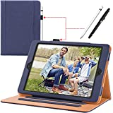 New iPad 9.7 inch 2018/2017 [ 6th / 5th Generation ] Leather Case with Apple Pencil Holder, Corner Protection, Stand Folio Cover Case and Auto Wake/Sleep, Also Fit iPad Air 2/iPad Air, Blue