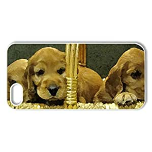 A basket of life - Case Cover for iPhone 4 and 4s (Dogs Series, Watercolor style, Black) by icecream design