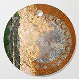 Society6 Wooden Cutting Board, Round, Metal Wheel by fernandovieira