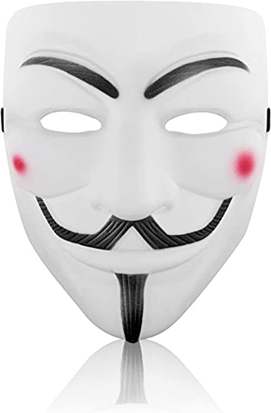 Anonymous Hacker V-Vendetta Game Kids Face Cover Party Cosplay Master Prop New