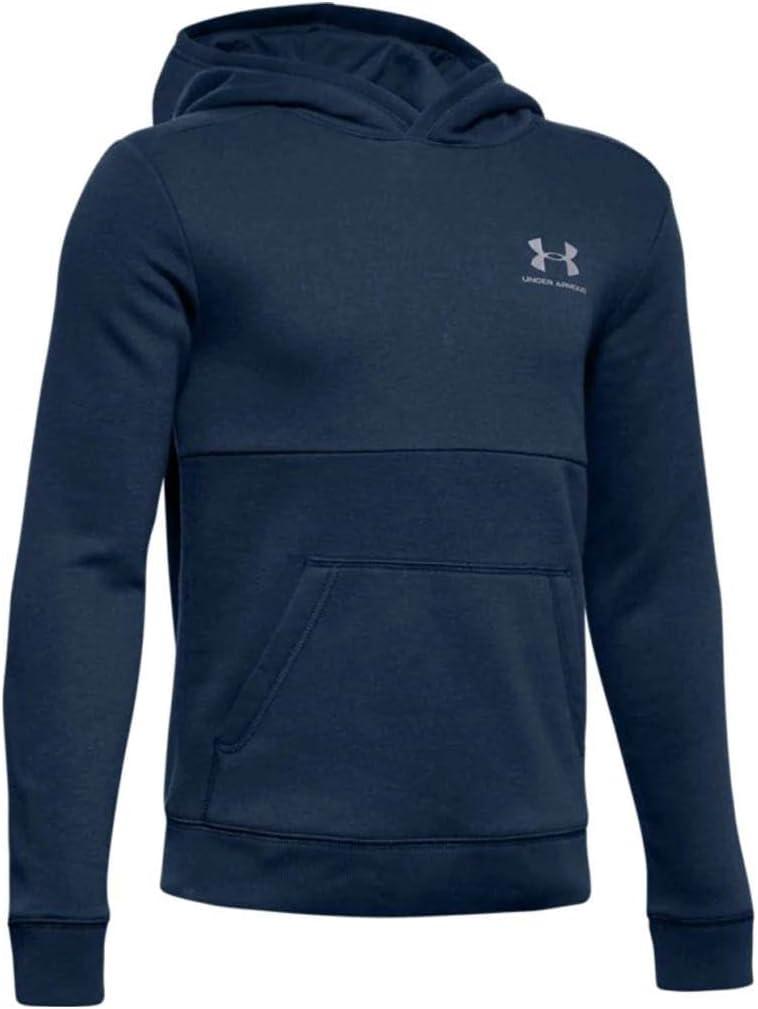 Under Armour Childrens Eu Cotton Fleece Hoody Long Sleeve Warm-up Top