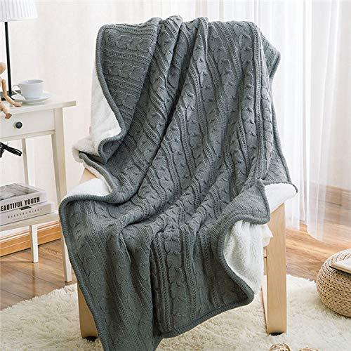 Lovis.Q Winter Warm Camel Knitted Wool Blanket Sofa/Bedspread Quilt Braided Blanket Comfortable Soft