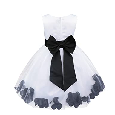 FEESHOW Kids Girls Dress Flower Petals Wedding Bridesmaid Girl Pageant Christening Party Prom Gown