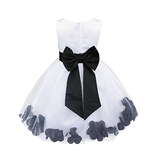 d5e734ac01fdc TiaoBug Baby Girls Princess Flower Petals Bow Wedding Bridal Tutu Dress  Pageant Graduating Communion Formal Party Ball Gown