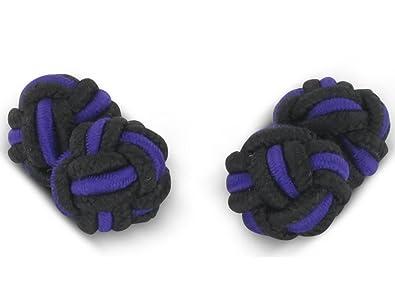 Lilac Knot Silk Cufflinks