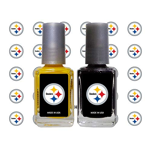 Worthy Promo NFL Pittsburgh Steelers Nail Care Set, 4-Piece Set, Yellow, Black