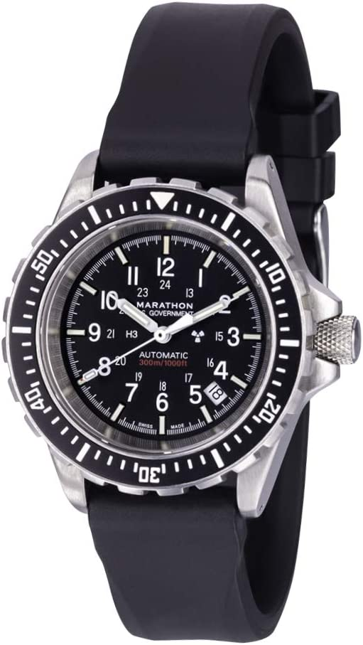 Marathon Watch GSAR Swiss Made Military Issue Diver's Automatic Watch with Tritium (41mm