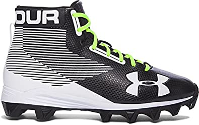 80f90d707 Under Armour Boy s Hammer Mid RM Jr. Football Cleats Black White Size 3.5 M