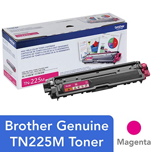 Brother Genuine High Yield Toner Cartridge, TN225M, Replacement Magenta Toner, Page Yield Up To 2,200 Pages, Amazon Dash Replenishment Cartridge, TN225 -