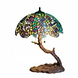 Warehouse of Tiffany 1686-BB449 Tiffany-style Tree Lamp, Green