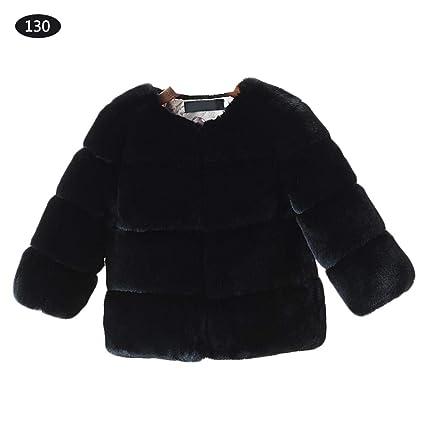 Singa-z Abrigos de Piel sintética Abrigos de niñas bebés Abrigo cálido Abrigo sin Cuello