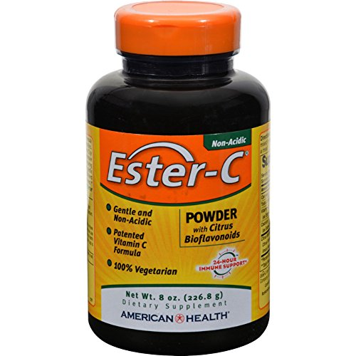 4 Pack of American Health Ester-C Powder with Citrus Bioflavonoids - 8 oz - - - by American Health