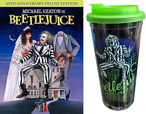 The Juice is ON! Dazzling Beetlejuice Tim Burton Movie with 3 Animated Episodes TV series + Bonus Travel Tumbler its Showtime!