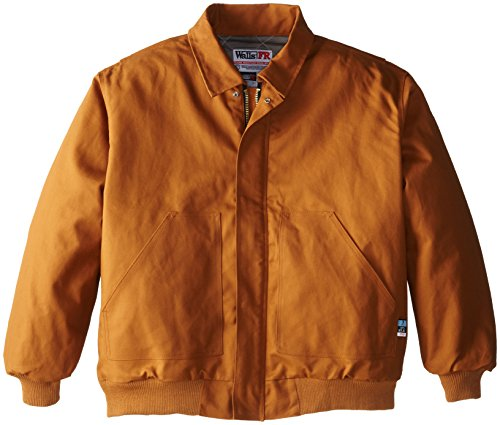 Walls Men's Flame Resistant Big and Tall Insulated Bomber Jacket, Brown, 3X-Large/Tall