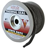 Stove Fire Rope Black -12mm Diameter- VITCAS Heat Resistant Thermal Seal per metre