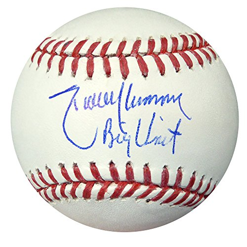RANDY JOHNSON AUTOGRAPHED OFFICIAL MLB BASEBALL MARINERS, DIAMONDBACKS