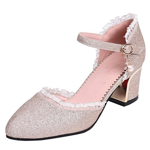 Coolcept Women Fashion Ankle Strap Summer Shoes Gold v3y6yoXI12