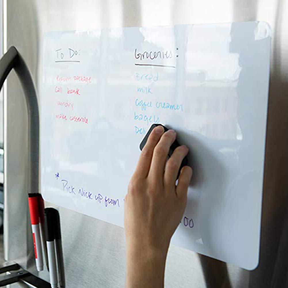 con bol/ígrafo PINBinyee Pizarra Blanca magn/ética para frigor/ífico A5 con borrado en seco