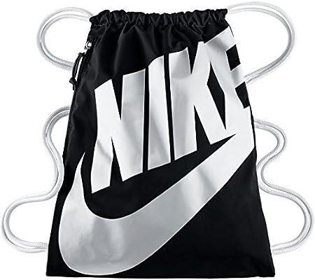 67f551ffe0ec3 Nike Heritage Gymbag Gymsack Turnbeutel BA5351 (black white)  Amazon ...