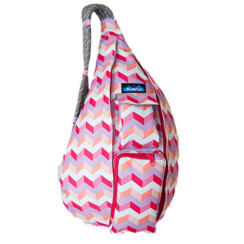 KAVU Rope Sling Bag Polyester Shoulder Backpack - Sunset Chevron