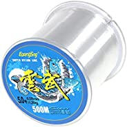 500 Meters Nylon Fishing Line, BetterJonny Strong Tension Monofilament Clear Nylon Fishing Wire About 0.370mm