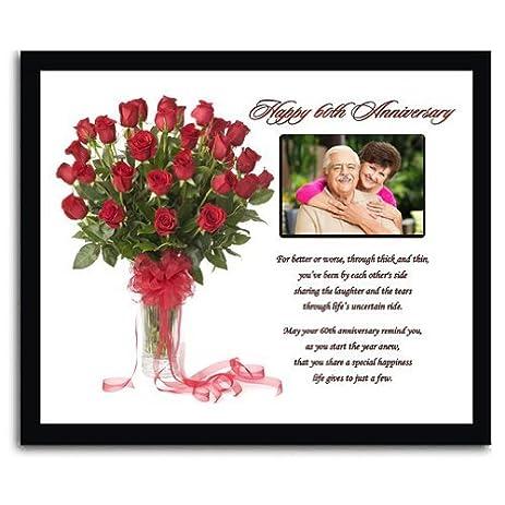 Amazon.com - 60th Wedding Anniversary Gift in 8x10 Inch Frame - Add ...