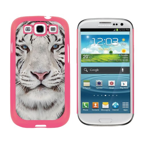 ith Blue Eyes - Snap On Hard Protective Case for Samsung Galaxy S3 - Pink (Tiger Protector Case)
