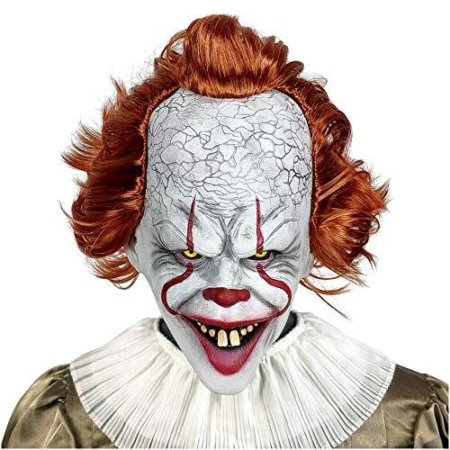 Pennywise Halloween Mask (HOMELEX Scary Clown Mask Pennywise Cosplay Halloween Latex Creepy Joker Stephen Masks)