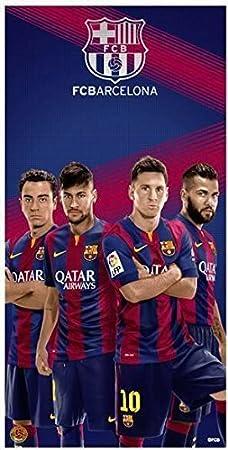 FCB Barcelona Equipo de fútbol Toalla de Playa, Cuatro Jugadores ...