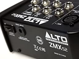 Alto Professional ZMX52 | 5-Channel 2-Bus Mixer with 6 Inputs, 3-Band EQ per Channel &+18V Phantom Power