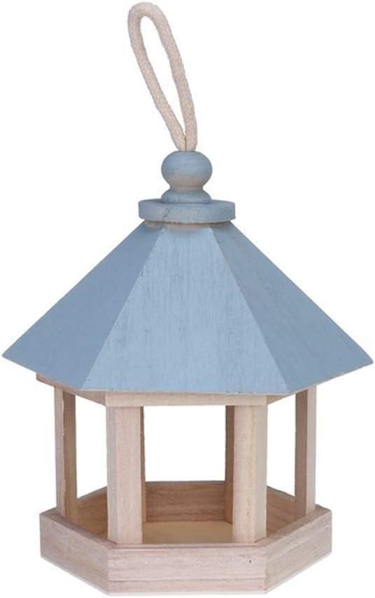 Mini alimentador del pájaro colgante al aire libre de madera de aves envase de alimento for el balcón Jardín Parque de las Aves Casa Tipo de alimentador de la decoración del jardín puede hacer comer m