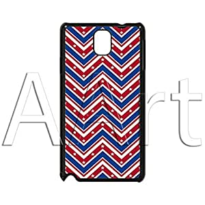 V19.1 Red Blue zigzag Strips Samsung Galaxy Note 3 case / zigzag Galaxy Note 3 Black Case - 4G AArt