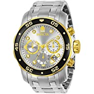 Men's 80040 Pro Diver Stainless Steel Watch with Link Bracelet
