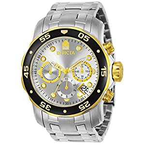 0bfc31fdbf40 Invicta Men s 80040 Pro Diver Stainless Steel Watch with Link ...