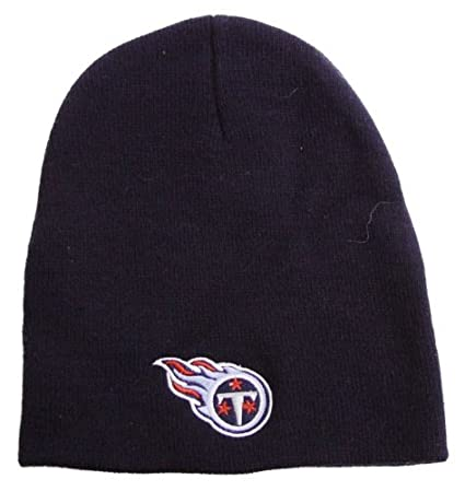 02a446ef8dd Image Unavailable. Image not available for. Color  Tennessee Titans NFL Knit  Cap Hat ...