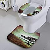 Auraisehome Toilet seat Cover Living Room droom and DoAccessories College List of Kind Machine Soft Non-Slip Water