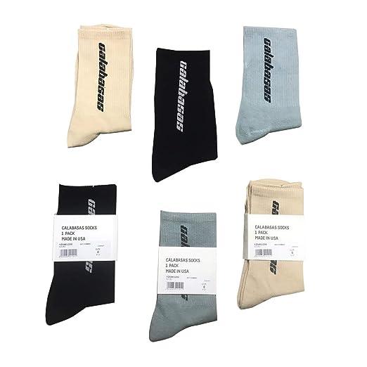 ba1f0df2cca46 Amazon.com: Cotton Socks Men High Ankle Crew Socks Calabasas Warm ...