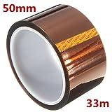 QOJA 50mm 33m high temperature heat resistant polyimide gold protective