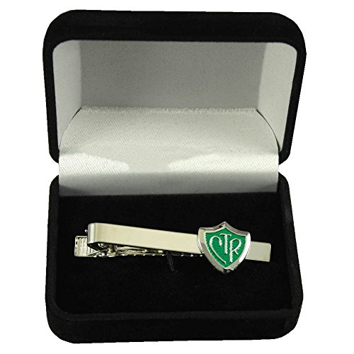 CTR Silver and Green Tie Bar w/Gift - Box Ctr